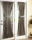 Room Darkening Sidelight Panel And / Or Door Curtain Tie Back Machine Washable
