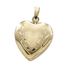 14k Yellow Gold Polished Heart Locket Charm Pendant 2 Grams