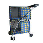 NEW Pet Stroller Double Deck Dog Cat Carrier Cart Puppy Walking Breathable Buggy