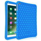 """For iPad 9.7"""" 2017 Silicone Case Kiddie ShockProof Cover + 3 Pcs Screen Protect"""