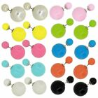 Wholesale Lot of Fashion Jewellery Double Side Candy Color Stud Ball Earrings