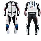 BMW MOTORBIKE COWHIDE CUOIO PANTALONI GIACCA SPORTIVA PANTALE PELLE SUIT