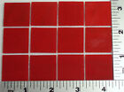"""12 THIN OPAQUE TOMATO RED 1"""" x 1"""" OF BULLSEYE GLASS 90 COE TESTED COMPATIBLE"""