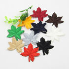 5Pcs Maple Leaf Shape Embroidered Iron On Applique Patch DIY Sewing Bag Clothes