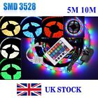 10M 5M SMD 3528 300 LED Flexible Strip Waterproof Power Supply Remote White RGB