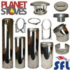 "SFL Sflue 6"" 150mm Stainless Steel Multifuel Twin Wall Flue Pipe Twist Lock"