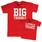 Big Trouble Little trouble T Shirt - Father Son Daughter Gift for Dad