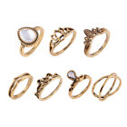 knuckle rings cheap - 7 Pcs Women Hollow Carving Lotus Flower Waterdrop Knuckle Midi Rings Set Cheap