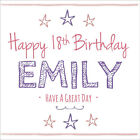 Quality Girls Pink Personalised BIRTHDAY CARD ~ ANY AGE & NAME OR RELATION
