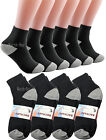 3-12 Pairs Mens Ankle Quarter Crew Sports Athletic Socks Black Cotton Size 10-13