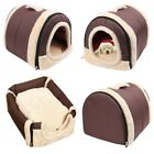 Portable 2 in 1 Washable Puppy Cat Cushion Tent Pet Dog Bed House Kennel Mat Pad