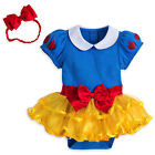 Disney Store Official Baby Princess Snow White Costume Bodysuit Headband Set