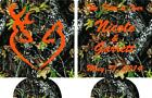 Camo the hunt is  over wedding koozie can coolers no minimums 12910708