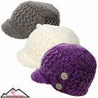 Klim Women's Peak Beanie Knit Bill Fleece Warm Snow Winter Beenie Ladies Girls