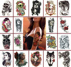 Tattoo Stickers Removable 3D Waterproof Temporary Arm Fake Body Art Skull Rose $1.99 USD