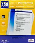 Samsill Clear Heavy Weight Sheet Protector Non Stick Archival Safe, 200 or 400