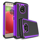 For Motorola Moto E4/Plus/G5/G6/G6 Plus Shockproof Slim Armor Rubber Case Cover