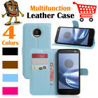 Leather Wallet Stand  Folio LSP Case Cover Skin For Moto Motorola Z Play XT1635