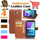 Leather Wallet Stand Folio LSP Case Skin For Samsung Galaxy J3 2017  J3 Emerge