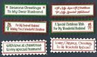 6 HUSBAND CHRISTMAS Greeting Card Craft Scrapbook Sentiment Message Banner Tags