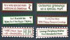 6 MUM CHRISTMAS Greeting Card Craft Scrapbook Sentiment Message Banner Tags