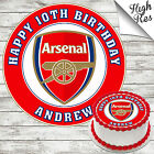 ARSENAL FOOTBALL CLUB ROUND BIRTHDAY CAKE TOPPER DECORATION PERSONALISED