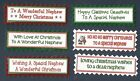6 NEPHEW CHRISTMAS Greeting Card Craft Scrapbook Sentiment Message Banners Tags