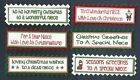 6 NIECE CHRISTMAS Greeting Card Craft Scrapbook Sentiment Message Banners Tags