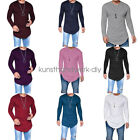 Fashion Men's Slim Fit O Neck Long Sleeve Muscle Tee T-shirt Casual Tops Blouse