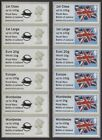 Royal Navy Post & Go Faststamp Jutland Cent. Machin & Flag Collector Strips