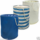Modern Pop Up Laundry Hamper Storage Washing Bag w/ Carry Handles - 35cm x 48cm