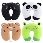 U Shape Toy Cartoon Animal Pillows For Baby Kids Travel Car