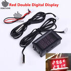 Red Double Digital Display Thermoeter Thermostat Temperature Controller DC 4-28V
