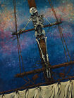 Judged By The Sea by David Lozeau Skeleton Sailor Pirate Ship Canvas Art Print