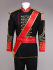 Royal Retro Mens Black victorian Vintage Prince Charming Costume Outfit Sets