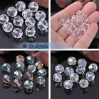 (32 Facets) 20pcs 10mm Faceted Round DIY Glass Crystal Loose Spacer Beads