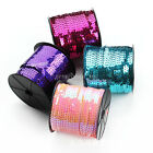 100Yards/Roll 6mm Sequins Paillettes String DIY Sewing Wedding Clothing Decor