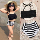 Summer Kid Girls Children Toddler's Casual Halter lace-up Tops + Shorts Swimwear