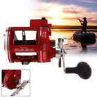 3.8:1 Gear 12 BB Ball Bearing Right/Left Hand Baitcasting Fish Trolling Reel red
