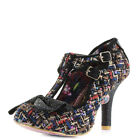 Womens Irregular Choice Sundae Sprinkles Black Multi High Heeled Shoes Size