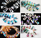 20x10mm Trapezia Charms Faceted Glass Crystal Necklace Findings Spacer Beads
