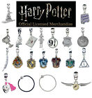 Official Harry Potter Jewellery Slider Charm Bracelets Silver/Black Leather