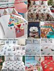 Christmas Kids Quilt Duvet Cover & Pillowcase Bedding Bed Set Xmas Gift Santa