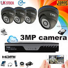 3MP CCTV 4CH DVR Camera Security Kit HD System 1080P Outdoor Video HDMI Home TMB