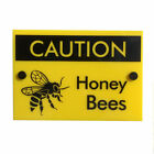 Beekeeping Warning Sign Caution Honey Bees, Hive Protection Equipment, Beekeeper