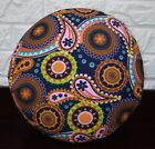 af252n Blue Pink Red Paisley Cotton Canvas Round Cushion/Pillow Cover CustomSize