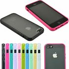 Shockproof Hybrid Clear Hard Matte Case Rubber Bumper Cover for Apple iPhones