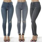 WOMENs Mid Waisted Skinny Ripped Jeans Ex All Saints Grace Collection Pants 4-14