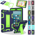 Heavy Duty Armor Hybrid Rugged Case Cover For Amazon Kindle Fire 7 7th Gen 2017