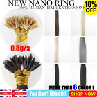 "7A Quality 16"" 18"" New Nano Ring Tip 100% Remy Human Hair Extensions 50s 100s"
